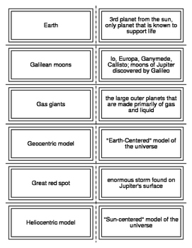The Solar System Flash Cards