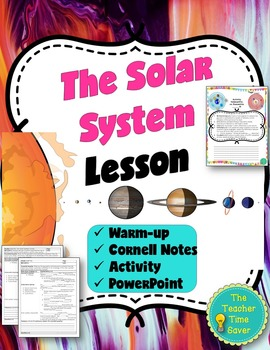 Solar System Lesson (Presentation, notes, and activity)
