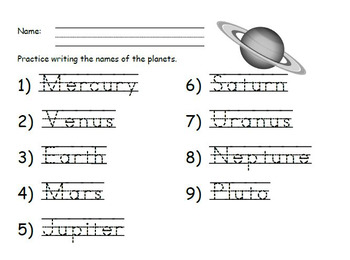 The Solar System (PowerPoint) - NGSS for First Grade
