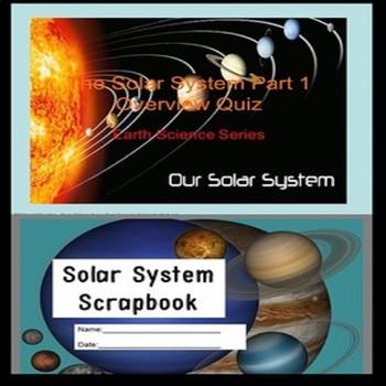 Solar System Quiz & Notebook SPED/Autism/ESL