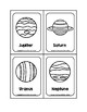 The Solar System Picture Word B&W Flash Cards without Pluto