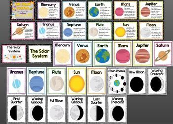 The Solar System Posters (English and Spanish)