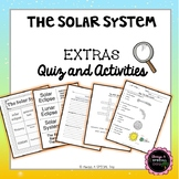 The Solar System: Quiz and Activities