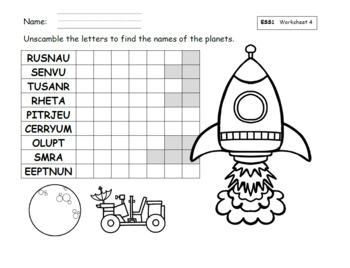 The Solar System SmartBoard (NextGen Science Standard for First Grade)