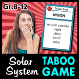 The Solar System Taboo Game - 48 Cards {With Editable Template}