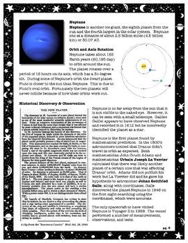 The Solar System // Uranus and Neptune