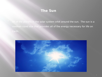 The Solar System and How the Planets Relate to Earth ppt