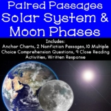 The Solar System and Phases of the Moon Reading Comprehens