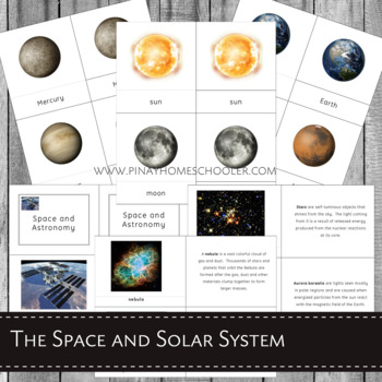 Montessori Inspired Planets and Solar System Learning Pack