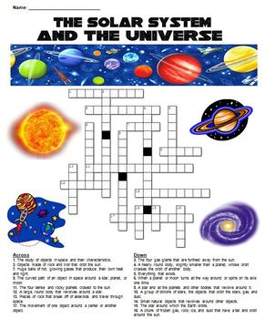 The Solar System and the Universe Crossword Puzzle