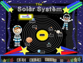 The Solar System in Orbit- Astronomy Lesson,Word Search+Stellar Sight Word Bingo