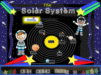 The Solar System in Orbit- Astronomy Lesson,Word Search+St