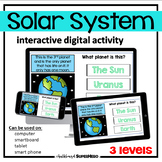 The Solar System interactive digital activity