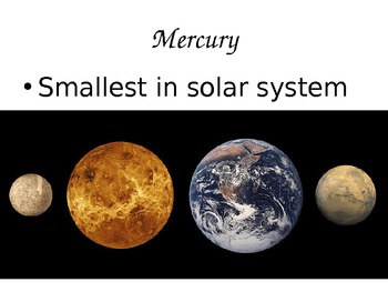 The Solar System with planets Powerpoint