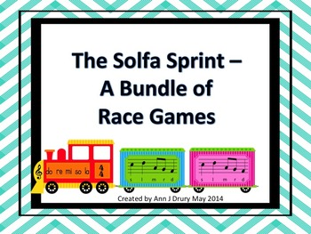 The Solfa Sprint - A Bundle of Games to Practice s,m,l,r and d