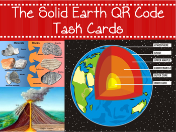 NGSS Aligned: The Solid Earth QR Code Task Cards