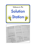 The Solution Station: Positive Planning Forms for Classroom Management