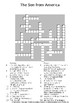 The Son from America by Isaac Bashevis Singer Guided Reading Worksheet & Puzzles