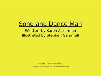 The Song And Dance Man ~ Vocabulary, Comprehension, Similes ~ Power Point ~