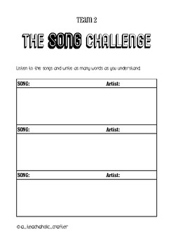 The Song Challenge