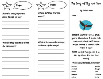 The Song of Sky and Sand Trifold - ReadyGen 2016 3rd Grade Unit 2 Module B