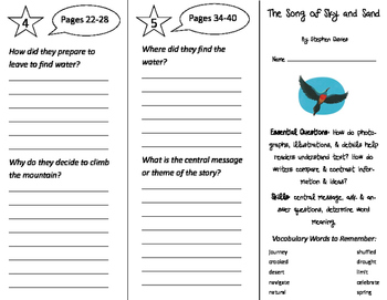 The Song of Sky and Sand Trifold - ReadyGen 2016 3rd Grade