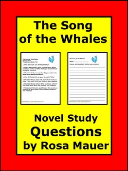 The Song of the Whales by Uri Orlev Novel Study