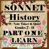 Sonnet History COMPLETE 3-Day Lesson – Grades 6-11