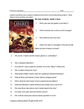 The Sons of Liberty Death and Taxes Graphic Novel Questions