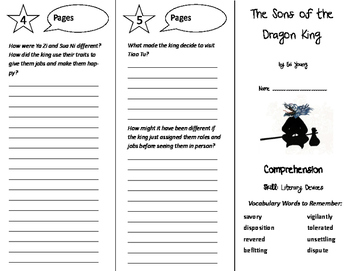 The Sons of the Dragon King Trifold - Storytown 6th Grade Unit 5 Week 3