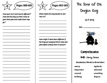 The Sons of the Dragon King Trifold - Storytown 6th Grade