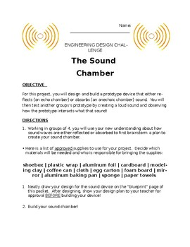The Sound Chamber STEM Project with Rubric!