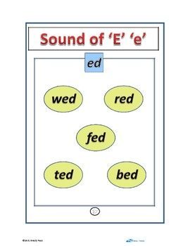 """The Sound Of """"E"""" - Pre-K to K Worksheets (9 Pages)"""