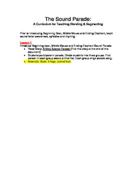 The Sound Parade: A Curriculum for Teaching Blending & Segmenting