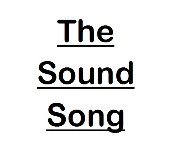 The Sound Song and Quiz