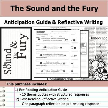 The Sound and the Fury - Anticipation Guide & Reflection Writing