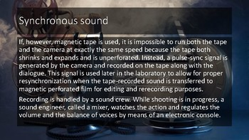 The Sound in Motion Pictures
