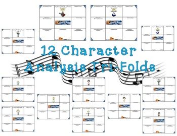 The Sound of Music Character and Literary Element Analysis Tri-Folds