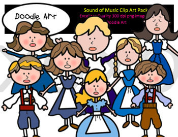 The Sound of Music Clipart Pack