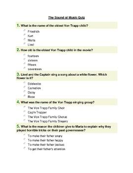 The Sound of Music Movie Quiz
