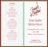"The Sounds of Christmas  ""Program Agenda""  (EDITABLE/TEMPLATE)"