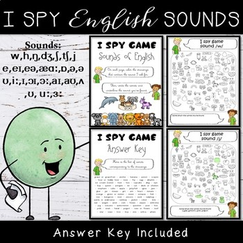 English Sounds I Spy Game