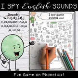 IPA Phonetics Activities - English Sounds I Spy Game