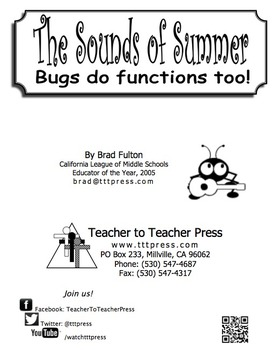 The Sounds of Summer: Bugs Do Functions Too!