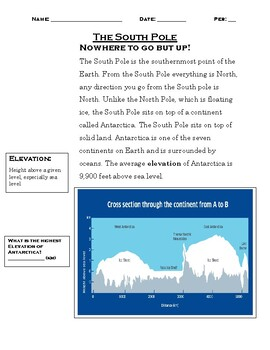 The South Pole: Research Project