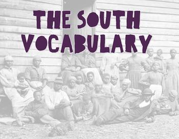 The South Vocabulary