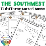 The Southwest: 11 Differentiated Tests - States, Capitals,