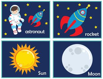 The Space Flash Cards; Kindergarten; Preschool; Homeschool; Science Center