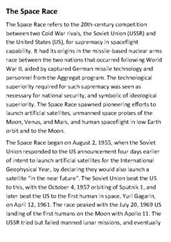 The Space Race Handout