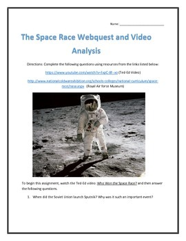 The Space Race- Webquest and Video Analysis with Key